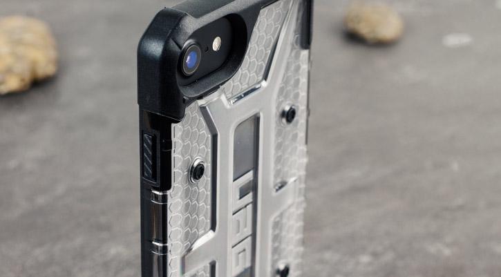 Coque iPhone 8 / 7 UAG Plasma Protective – Glace / Noir vue sur appareil photo