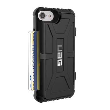 Coque iPhone 8 / 7 UAG Trooper Protective Portefeuille – Noire vue sur appareil photo