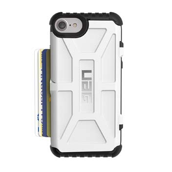 UAG Trooper iPhone 7 Protective Wallet Case - White / Black
