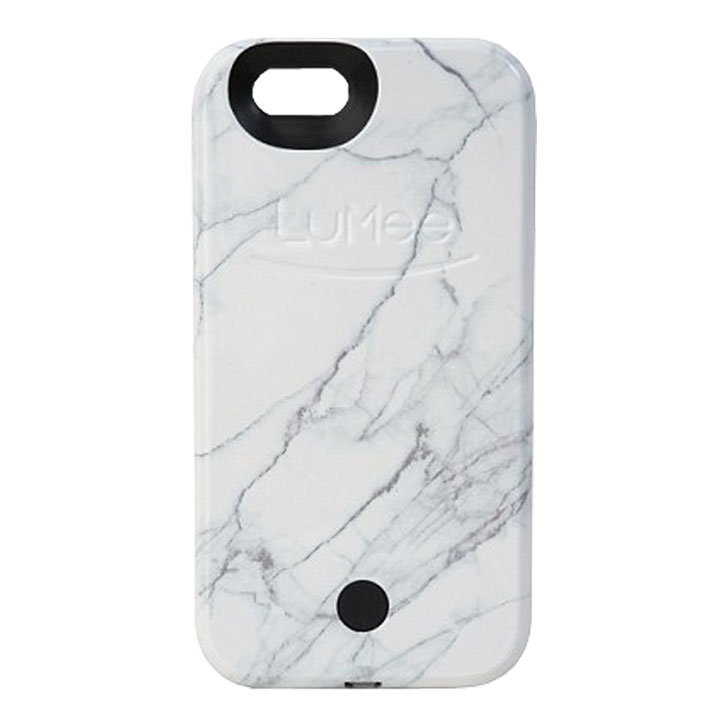 LuMee iPhone 6S / 6 Selfie Light Case - White Marble