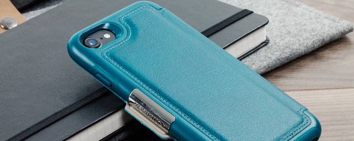 OtterBox Strada Series iPhone 8 / 7 Leather Case - Pacific Blue Teal