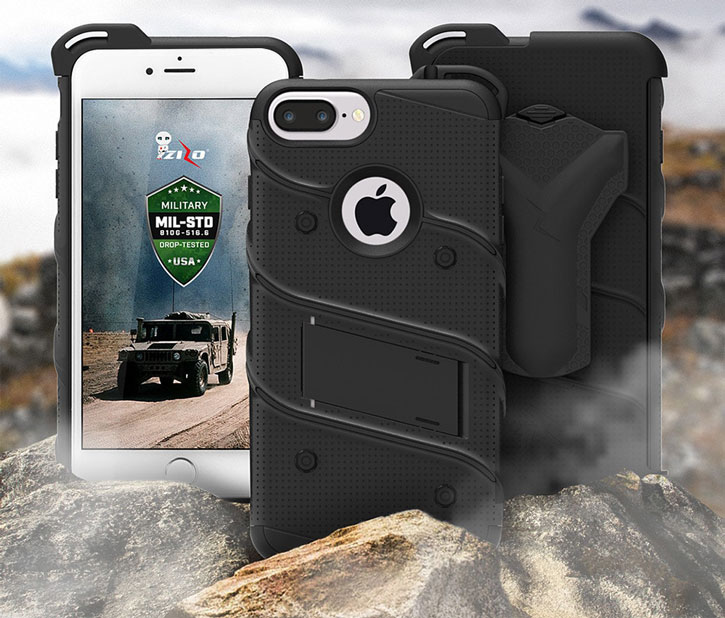 Zizo Bolt Series iPhone 7 Plus Tough Case & Belt Clip - Black