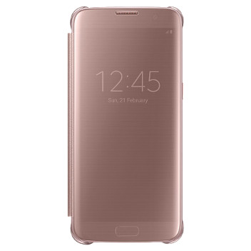 Official Samsung Galaxy S7 Edge Clear View Cover Case - Rose Gold