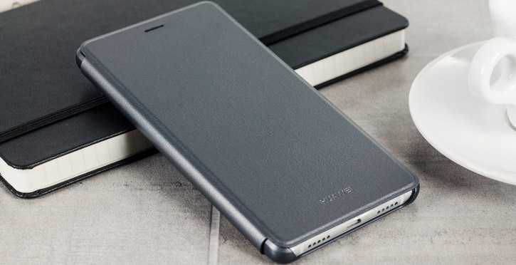 Official Leather Style Huawei P9 Lite Flip Cover - Grey