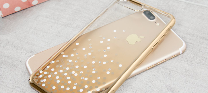 Unique Polka 360 Case iPhone 7 Case Plus - Champagne Gold