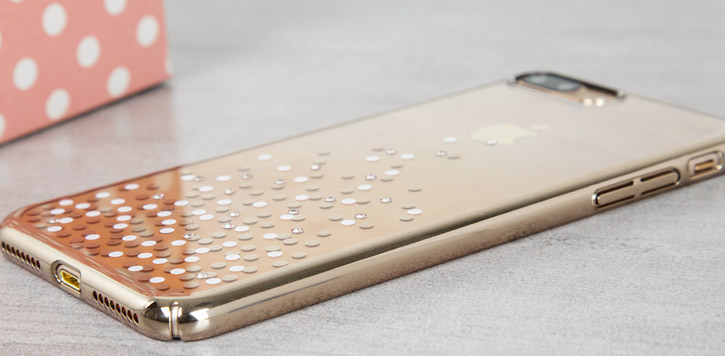 271296abf48 Unique Polka 360 Case iPhone 7 Case Plus - Champagne Gold