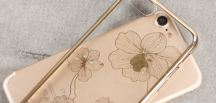 Crystal Flora 360 iPhone 7 Case - Champagne Gold