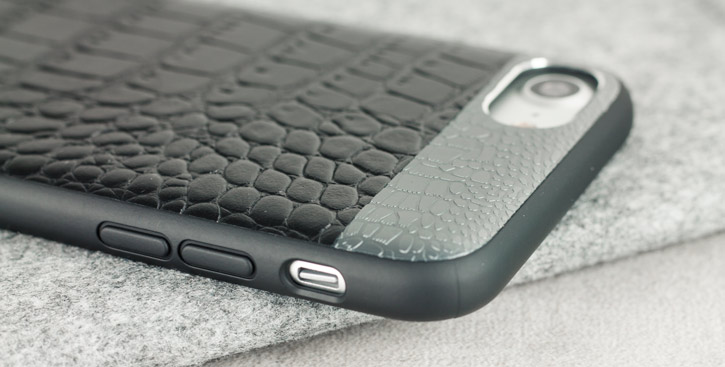CROCO2 Genuine Leather iPhone 7 Case - Black