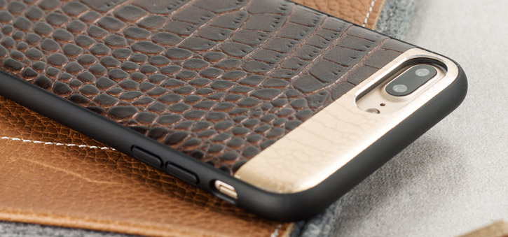 coque iphone 8 plus en cuir crocodile