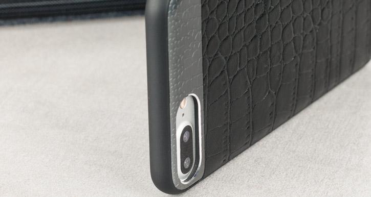 CROCO2 Genuine Leather iPhone 7 Plus Case - Black