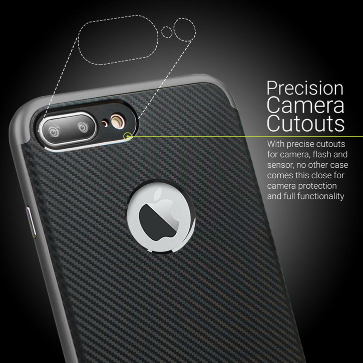 Olixar X-Duo iPhone 7 Plus Case - Carbon Fibre Metallic Grey