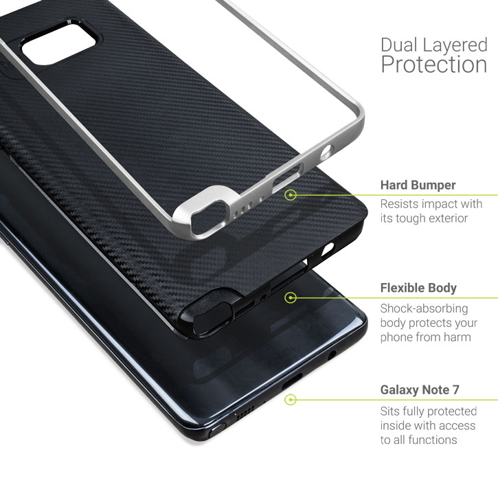 Olixar X-Duo Samsung Galaxy Note 7 Case - Silver