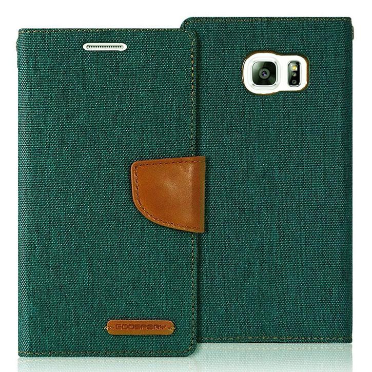 Mercury Canvas Diary iPhone 6S Plus / 6 Plus Wallet Case - Green/Camel