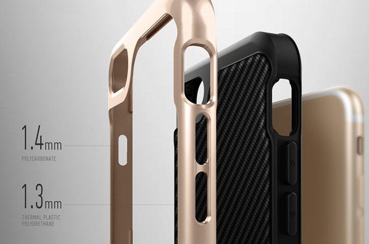 Coque iPhone 7 Plus Caseology Envoy Series – Fibre Carbone Noir
