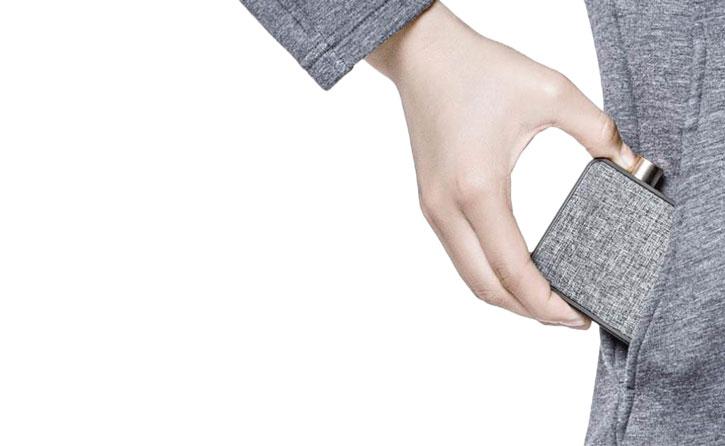 Emie Canvas Portable Bluetooth Speaker - Black