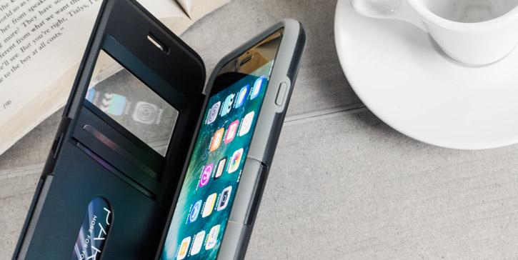 Peli Vault Folio iPhone 7 Plus View Window Wallet Case - Grey / Black