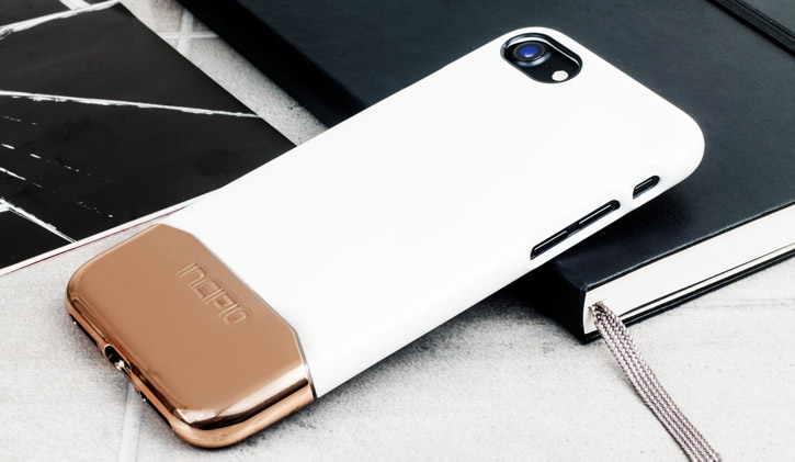 Incipio Edge Chrome iPhone 7 Case - White Opal / Rose Gold Chrome