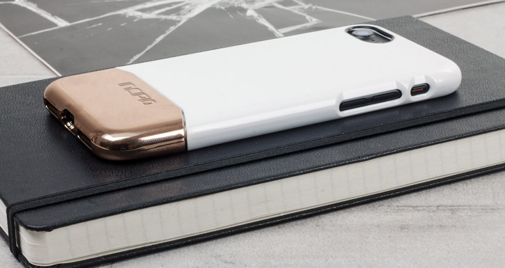Incipio Edge Chrome iPhone 7 Case - White Opal / Chrome Rose Gold