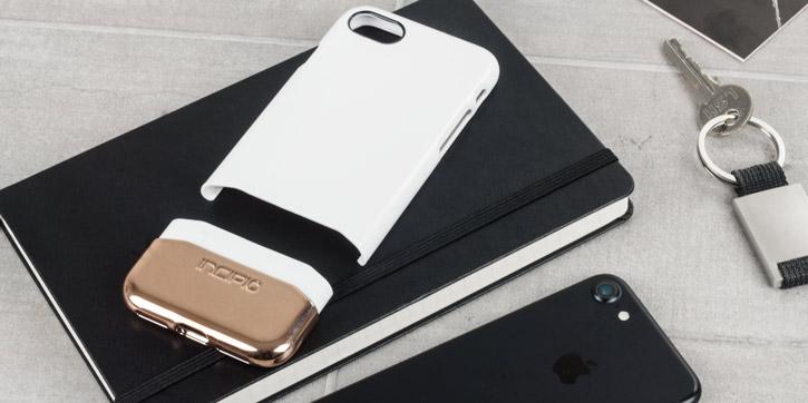 Incipio Edge Chrome iPhone 7 Case - White Opal / Rose Gold Chrome