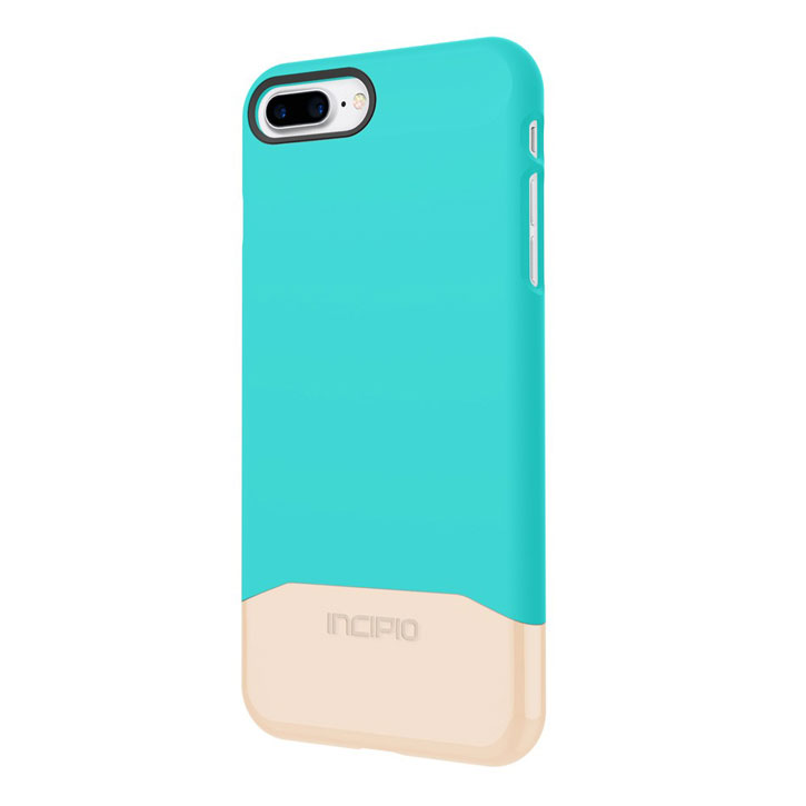 Incipio Edge Chrome iPhone 7 Plus Case - Turquoise / Chrome Gold