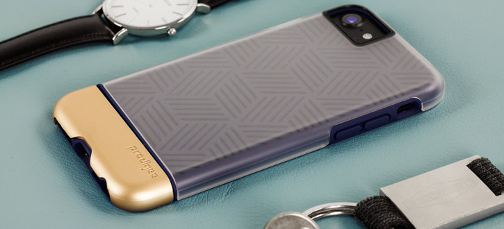 Prodigee Stencil iPhone 7 Case -Navy Blue / Gold