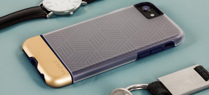 Prodigee Stencil iPhone 7 Case -Navy Blue / Gold