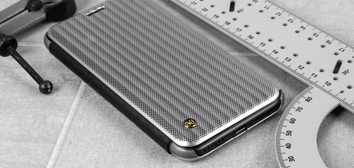 STIL Jet Set iPhone 7 Flip Case - Micro Silver