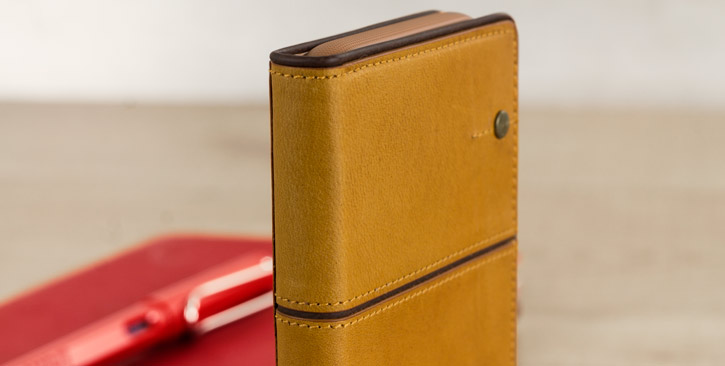 STIL Toscano Wine Genuine Leather iPhone 7 Wallet Case - Camel Brown