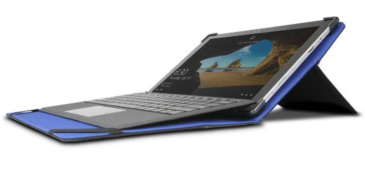 Maroo Microsoft Surface Pro 4 / 3 Tactial Folio Case - Black / Blue