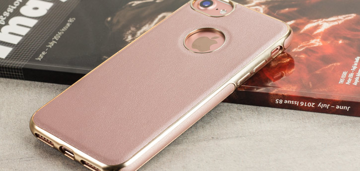 Olixar FlexiLeather iPhone 7 Case - Rose Gold