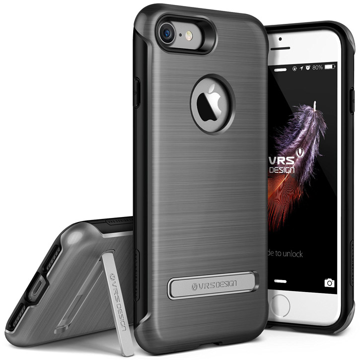 Coque iPhone 7 VRS Design Duo Guard – Argent Sombre