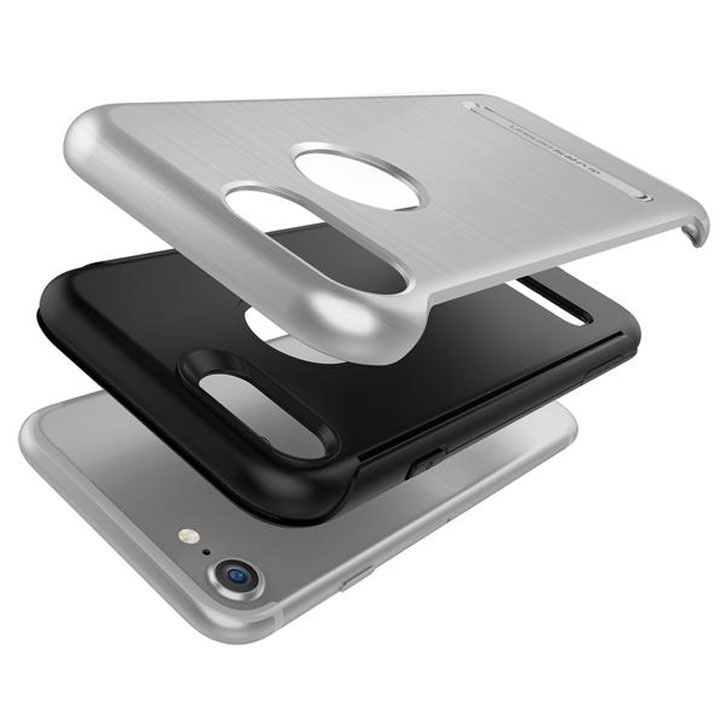VRS Design Duo Guard iPhone 7 Case - Zilver