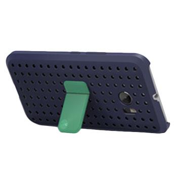 Official HTC 10 Klik Ice View Case - Graphite Blue