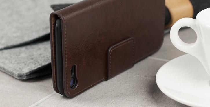 Housse iPhone 8 / 7 Olixar Portefeuille Simili Cuir - Marron