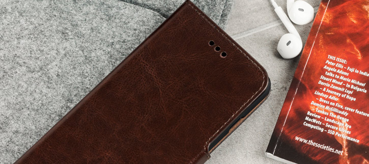 Olixar Leather-Style iPhone 7 Plus Wallet Stand Case - Brown