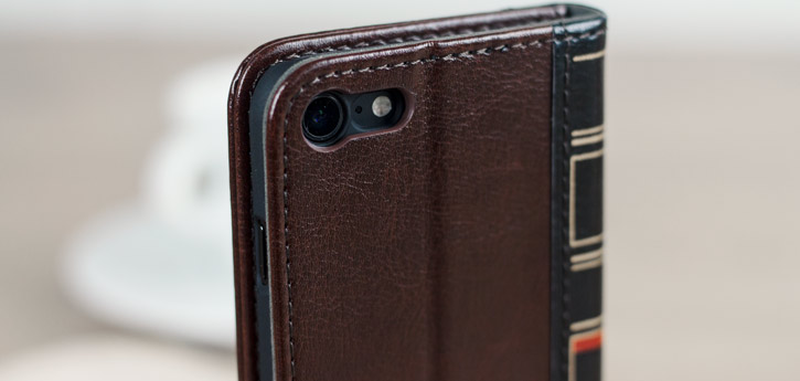 Olixar X-Tome Leather-Style iPhone 7 Book Case - Brown
