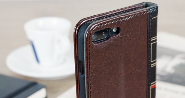 Olixar X-Tome Leather-Style iPhone 7 Plus Book Case - Brown
