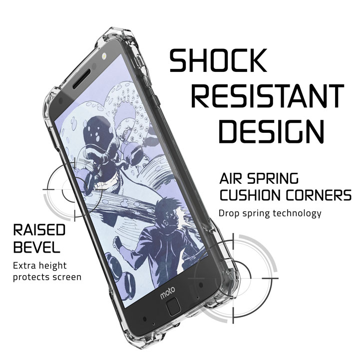 with that came ghostek covert motorola moto z force bumper case clear 2