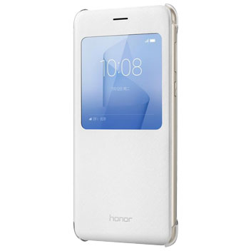 Official Huawei Honor 8 View Flip Case - White