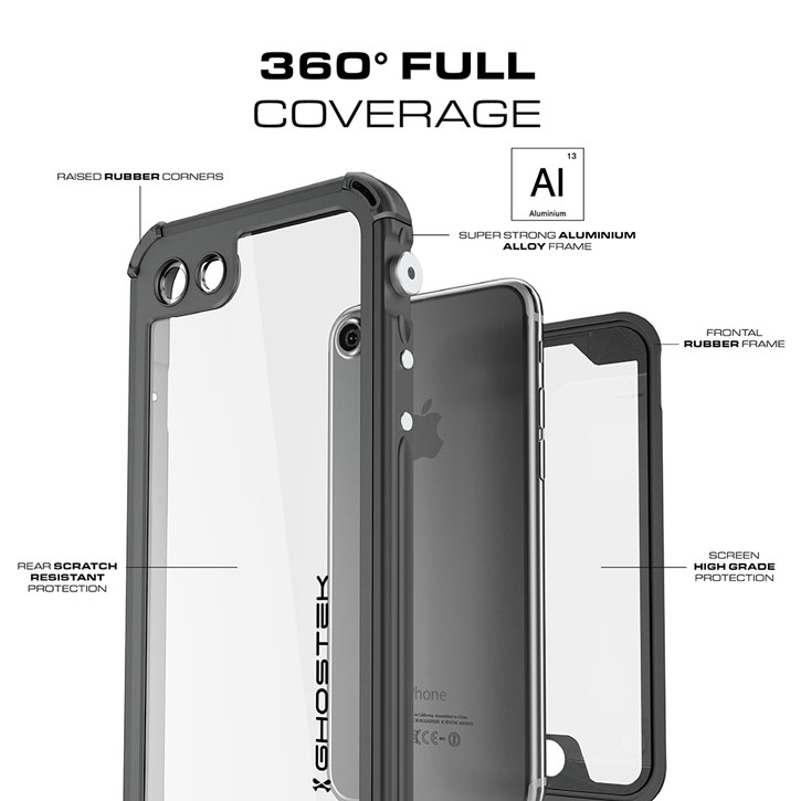 Ghostek Atomic 3.0 iPhone 7 Waterproof Tough Case - Black