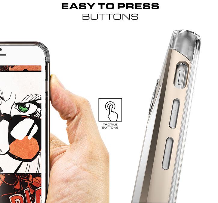 Ghostek Cloak iPhone 7 Plus Aluminium Tough Case - Clear / Black