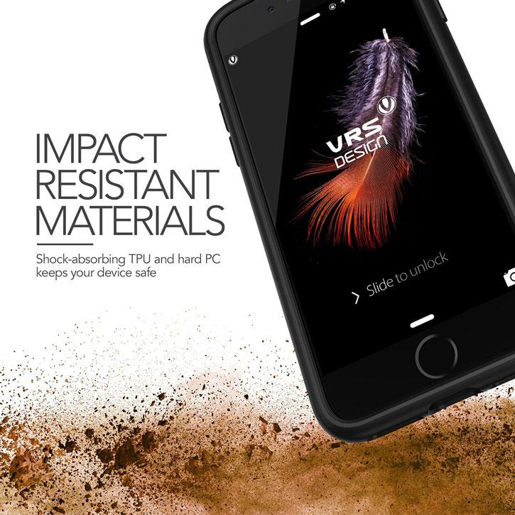 VRS Design Damda Glide iPhone 8 / 7 Case - Steel Silver