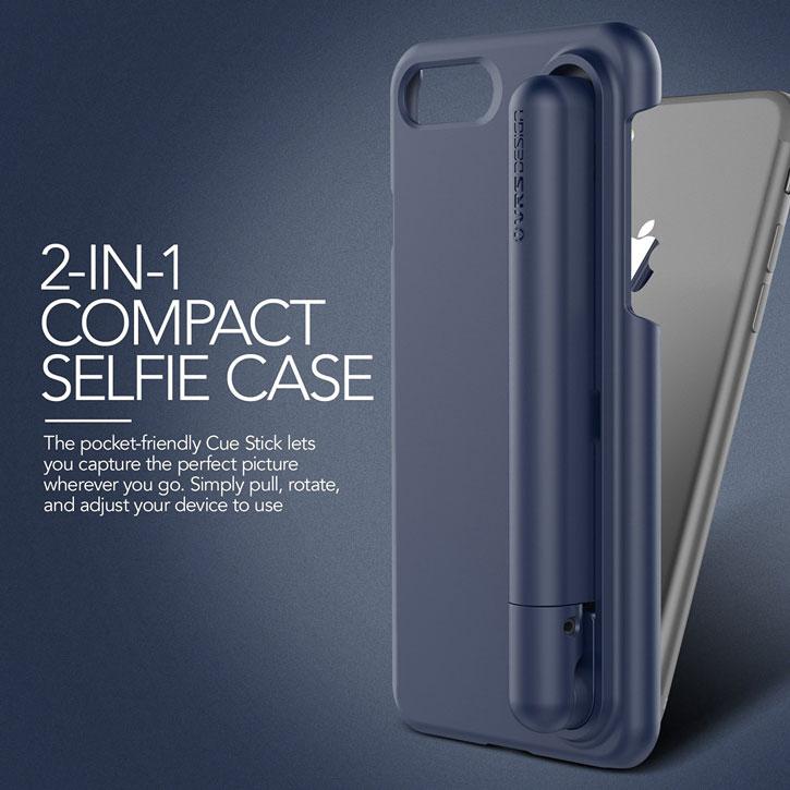VRS Design Cue Stick iPhone 7 Selfie Case - Night Blue