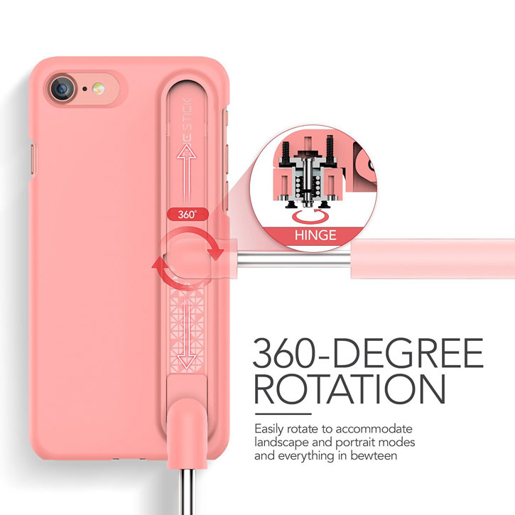 VRS Design Cue Stick iPhone 7 Selfie Case - Snow Pink
