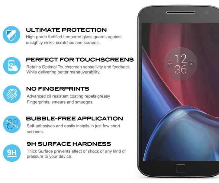 Zizo Lightning Shield Moto Z Force Tempered Glass Screen Protector