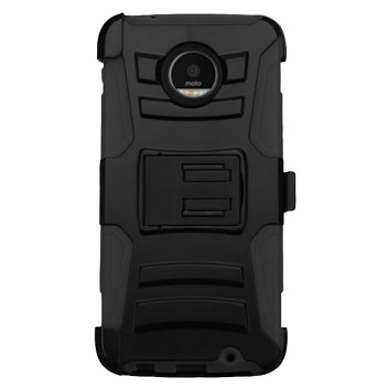 zizo robo combo motorola moto z tough case belt clip black