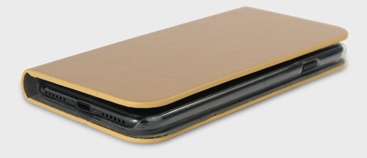 Olixar Leather-Style iPhone 7 Wallet Stand Case - Gold