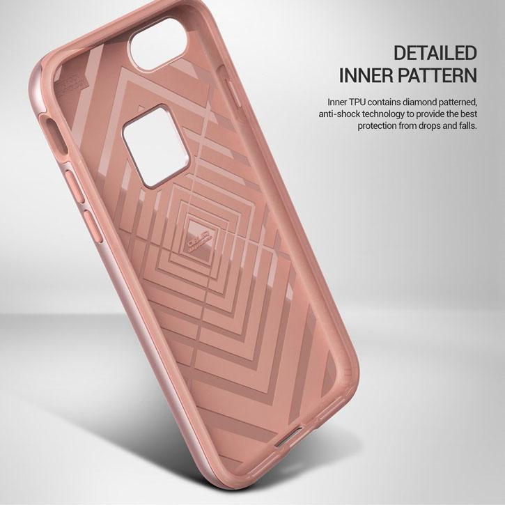 Obliq Slim Meta iPhone 7 Case - Rose Gold