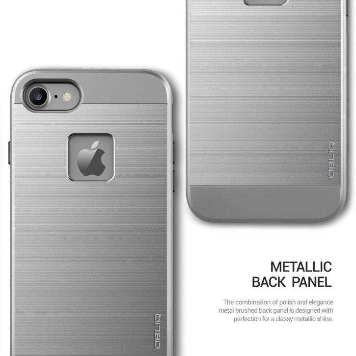 Coque iPhone 7 Obliq Slim Meta – Argent titane vue sur appareil photo