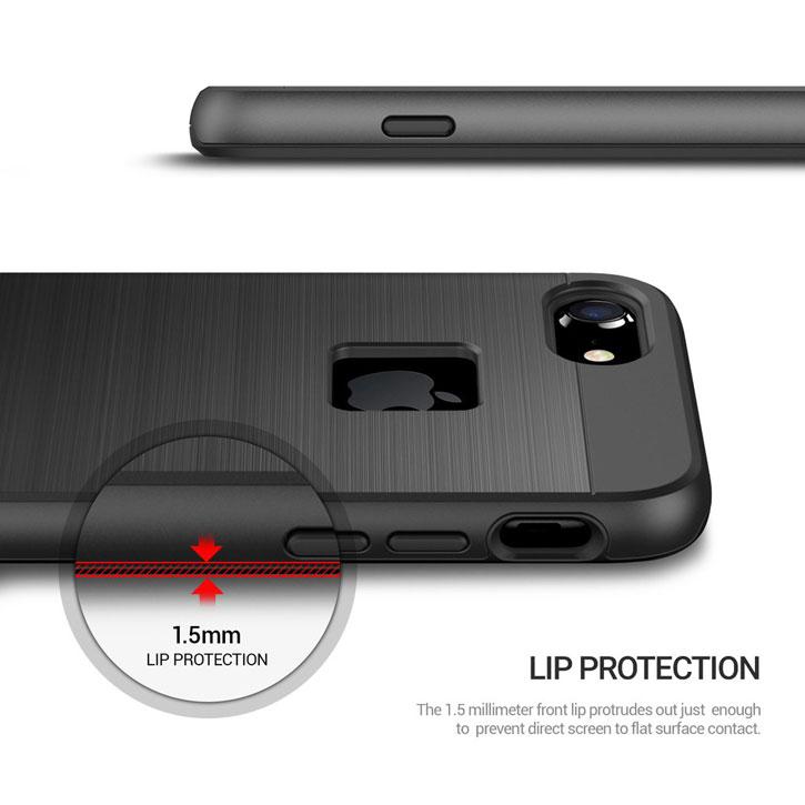 Obliq Slim Meta iPhone 7 Case - Black Titanium